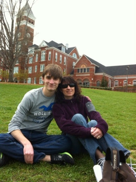 With mom on the Clemson lawn, 2013 or 2014.