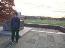 Overlooking the quad at Virginia Tech, 2015
