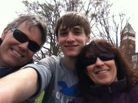 A selfie at Clemson, 2013 or 2014.