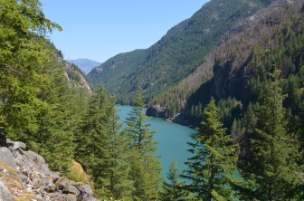 We drove back over the border and took a left into North Cascades National Park. We were looking for cooler weather -- cooler than Atlanta -- but it was 85 up there. Still gorgeous.