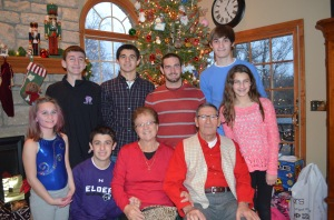 Mr. and Mrs. D with the grandkids, 2013.