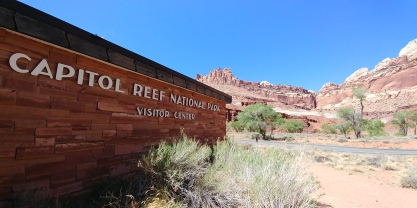 Capitol Reef is one of the lesser-known national parks in Utah. It sits in between Zion and Bryce to the southwest and Canyonlands and Arches to the northeast.
