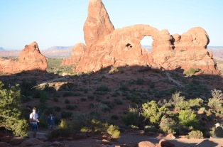 Sun and shadow at Arches. And folding hands.