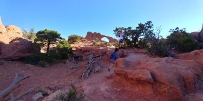Much of the desert terrain at arches was flat and fairly easy to cover.
